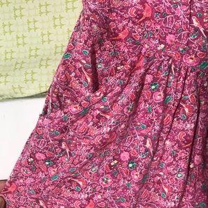 Pink Patterned American Eagle Skirt w/ Pockets